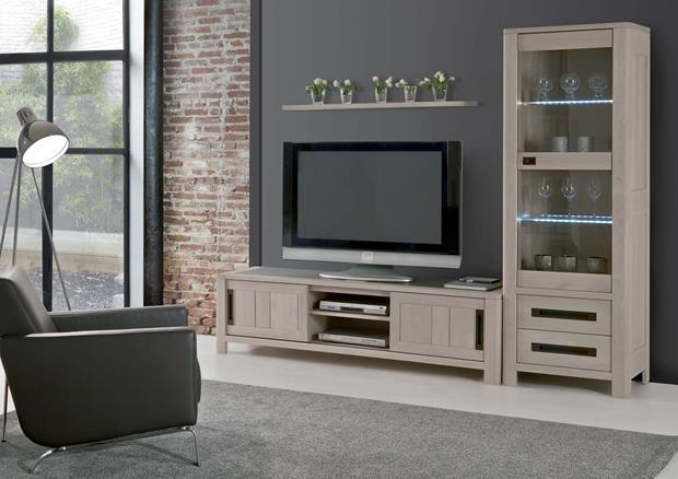 acheter votre meuble tv chene massif et ceramique 2 portes. Black Bedroom Furniture Sets. Home Design Ideas