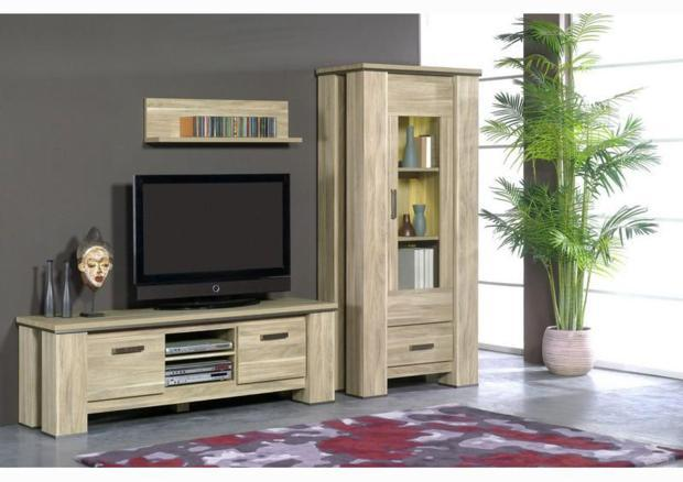 acheter votre meuble t l contemporain 1 niche 2 portes chez simeuble. Black Bedroom Furniture Sets. Home Design Ideas