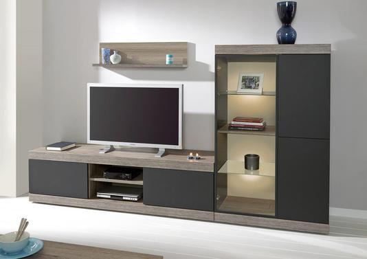 acheter votre meuble t l en m lamin 2 portes 1 niche chez simeuble. Black Bedroom Furniture Sets. Home Design Ideas