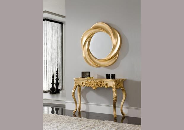 acheter votre miroir dor contemporain chez simeuble. Black Bedroom Furniture Sets. Home Design Ideas