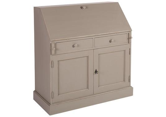 Acheter votre secr taire style anglais pin massif taupe 6 Meuble tv style anglais