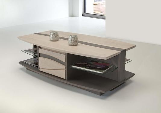acheter votre table basse en ch ne avec tiroir d cor vague chez simeuble. Black Bedroom Furniture Sets. Home Design Ideas