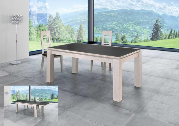 acheter votre table rectangulaire ch ne dessus c ramique 2 all chez simeuble. Black Bedroom Furniture Sets. Home Design Ideas