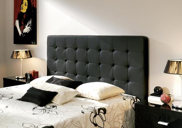acheter votre t te de lit contemporain capitonn en pvc moka chez simeuble. Black Bedroom Furniture Sets. Home Design Ideas