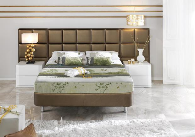 acheter votre t te de lit en pvc marron contemporaine chez. Black Bedroom Furniture Sets. Home Design Ideas