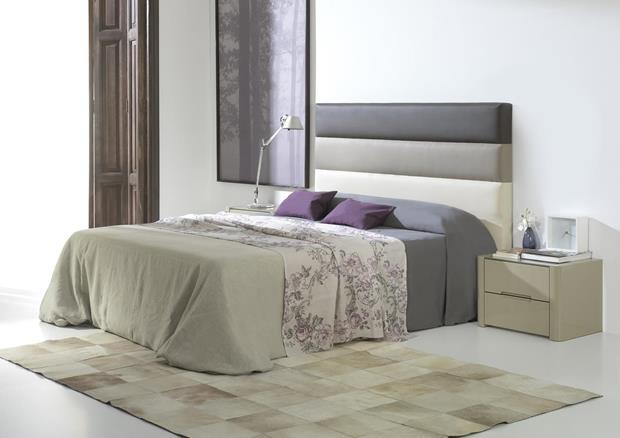 acheter votre t te de lit tricolor en pvc marron brun et beige chez simeuble. Black Bedroom Furniture Sets. Home Design Ideas