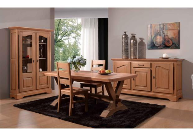 acheter votre vitrine 2 portes chene massif bicolore chez. Black Bedroom Furniture Sets. Home Design Ideas