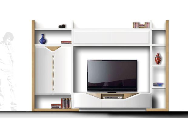 acheter votre meuble tv contemporain chez simeuble. Black Bedroom Furniture Sets. Home Design Ideas