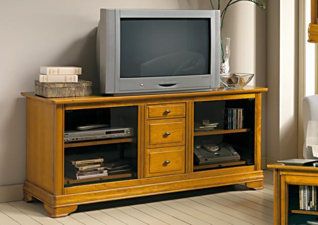 acheter votre meuble tv hifi 3 tiroirs chez simeuble. Black Bedroom Furniture Sets. Home Design Ideas