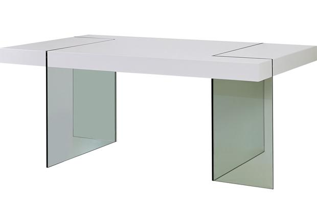 acheter votre table rectangulaire pieds verre contemporain chez simeuble. Black Bedroom Furniture Sets. Home Design Ideas